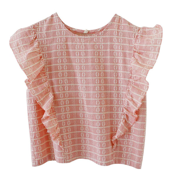 Nico Nico Mckinley Block Ruffle Top - Tiny People Cool Kids Clothes Byron Bay