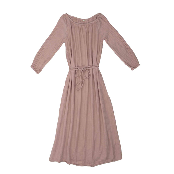 Numero 74 Nina Dress Long Women's Dusty Pink - Tiny People Cool Kids Clothes Byron Bay