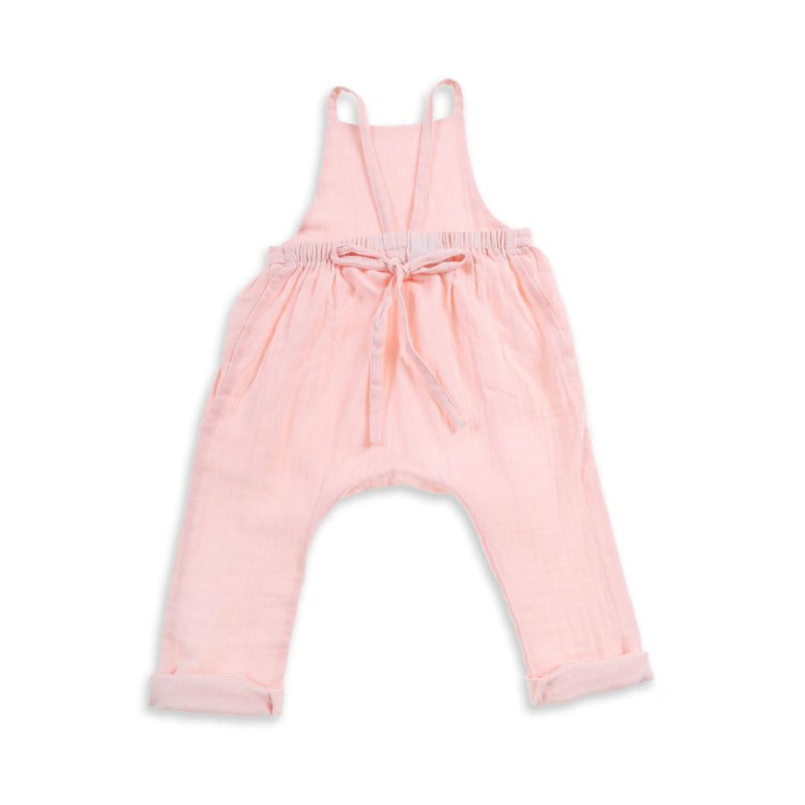 Tiny People Winnie Woven Cotton Overalls - Pink - Tiny People Cool Kids Clothes Byron Bay