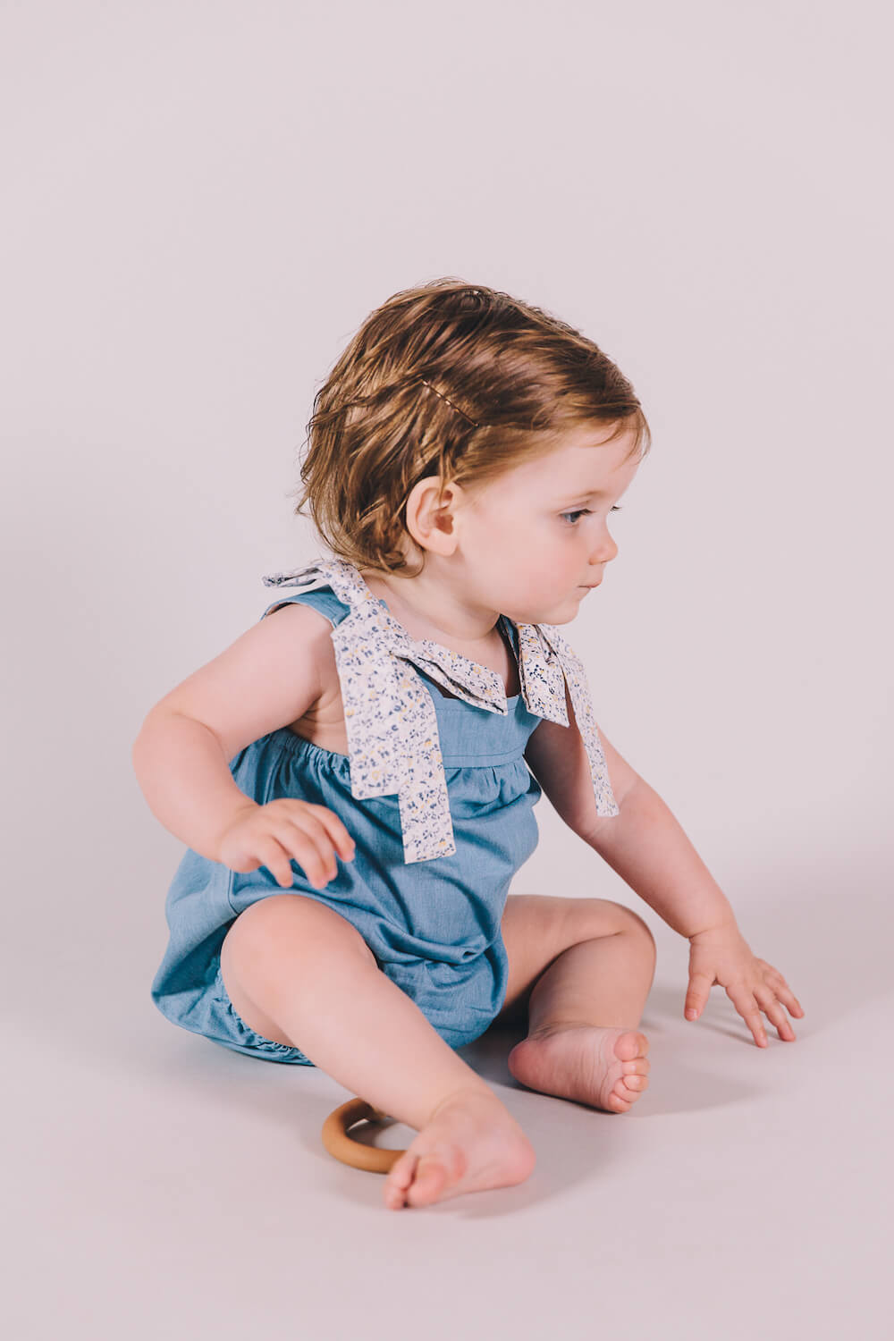 Peggy Petrina Playsuit Mini Blue Floral | Tiny People