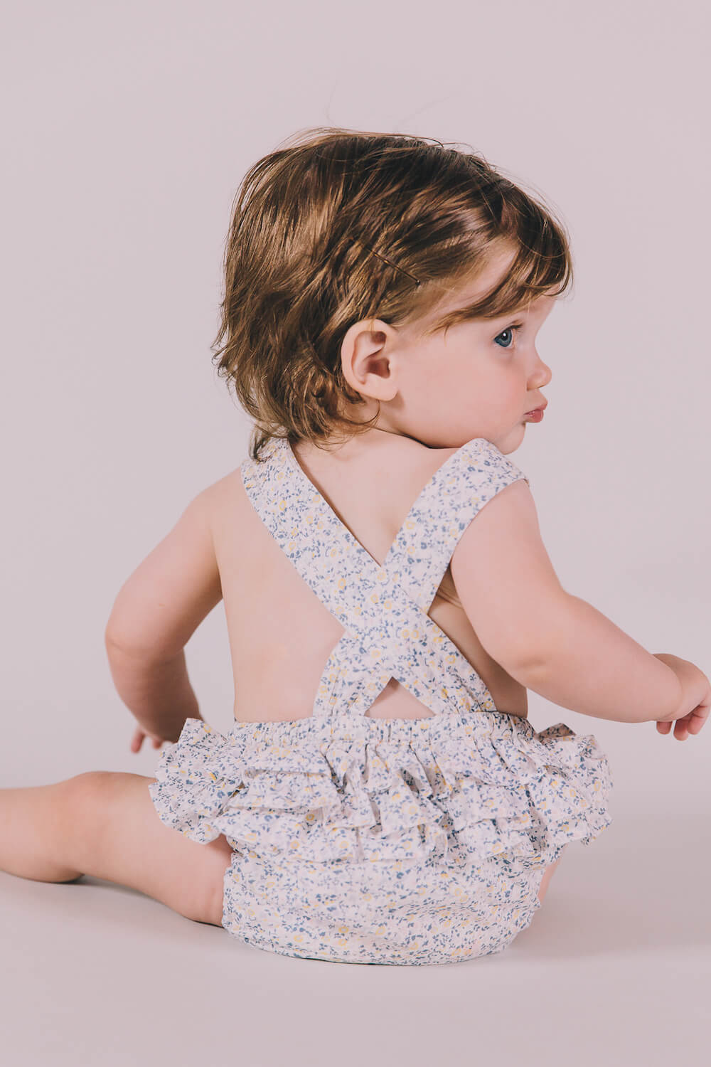 Peggy Jane Playsuit Mini Blue Floral | Tiny People Shop