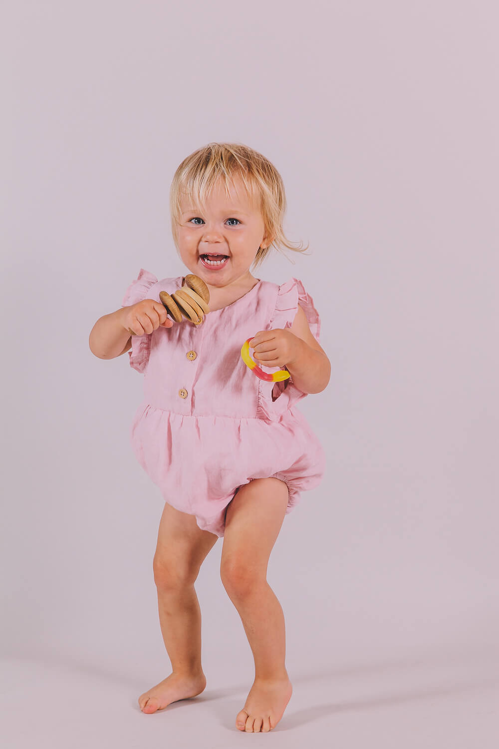Peggy August Playsuit Primrose Pink | Tiny People