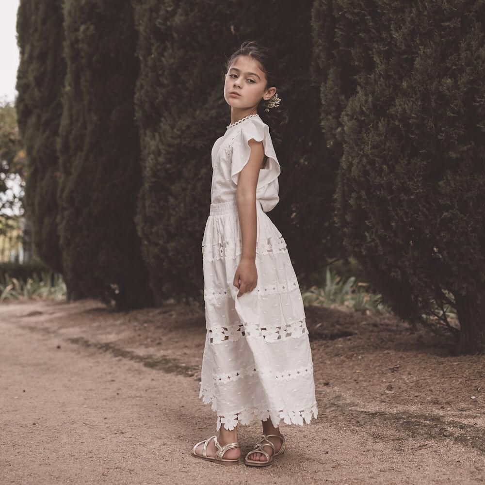 Daisy Chain Skirt White | Tiny People