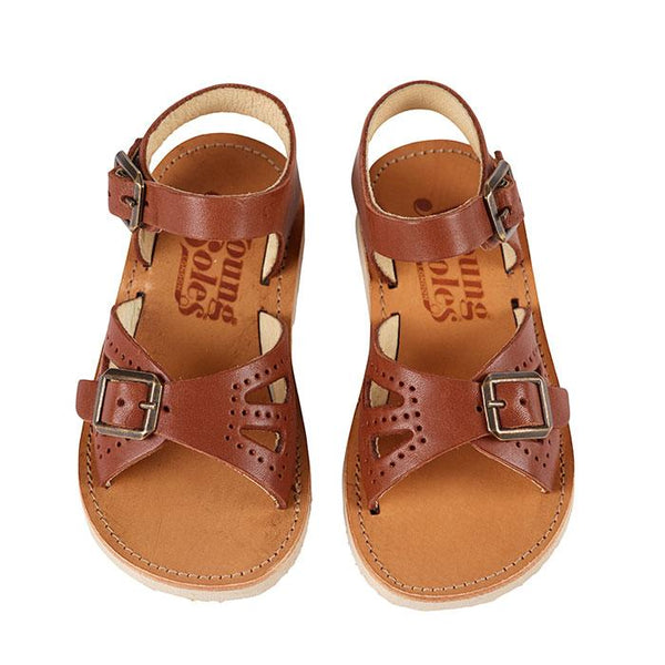 Young Soles Pearl Sandal Chestnut - Tiny People Cool Kids Clothes Byron Bay