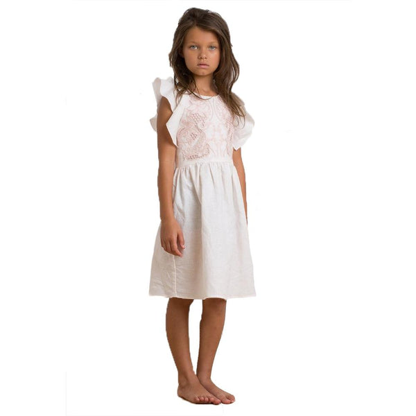 Petite Amalie Frill Sleeve Dress - Tiny People Cool Kids Clothes Byron Bay