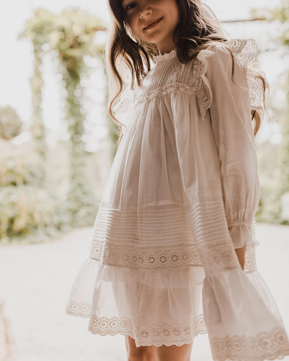 Petite Amalie Victoria Dress Cream | Tiny People