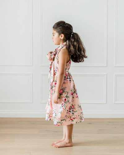 Petite Amalie Flower Print Pussy Bow Dress - Tiny People Cool Kids Clothes Byron Bay