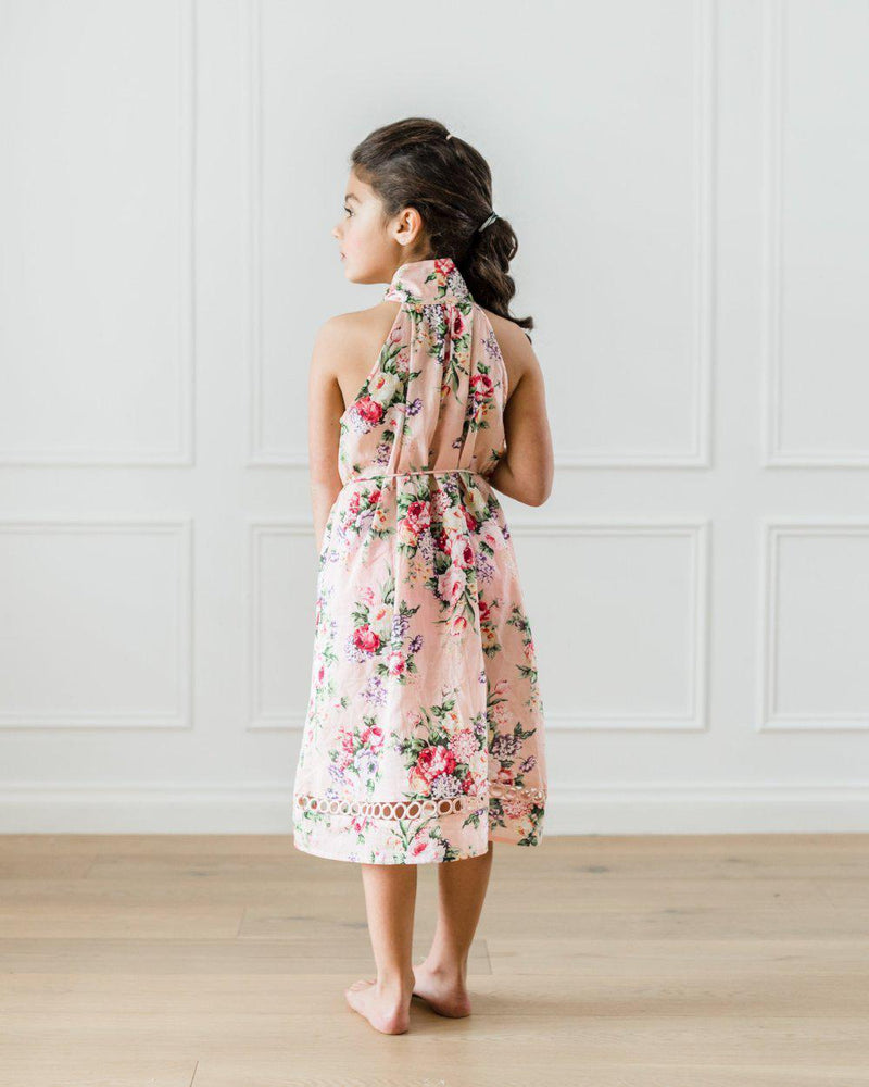 Petite Amalie Flower Print Pussy Bow Dress **PRE ORDER** - Tiny People Cool Kids Clothes Byron Bay