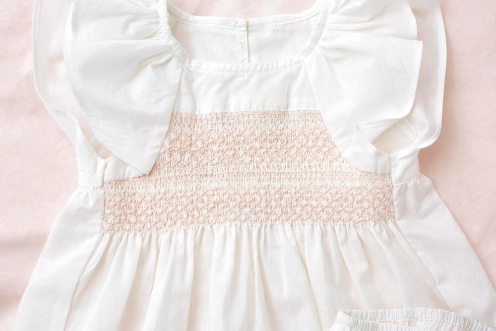 Petite Amalie Bebe Smocked Blouse & Bloomer | Tiny People