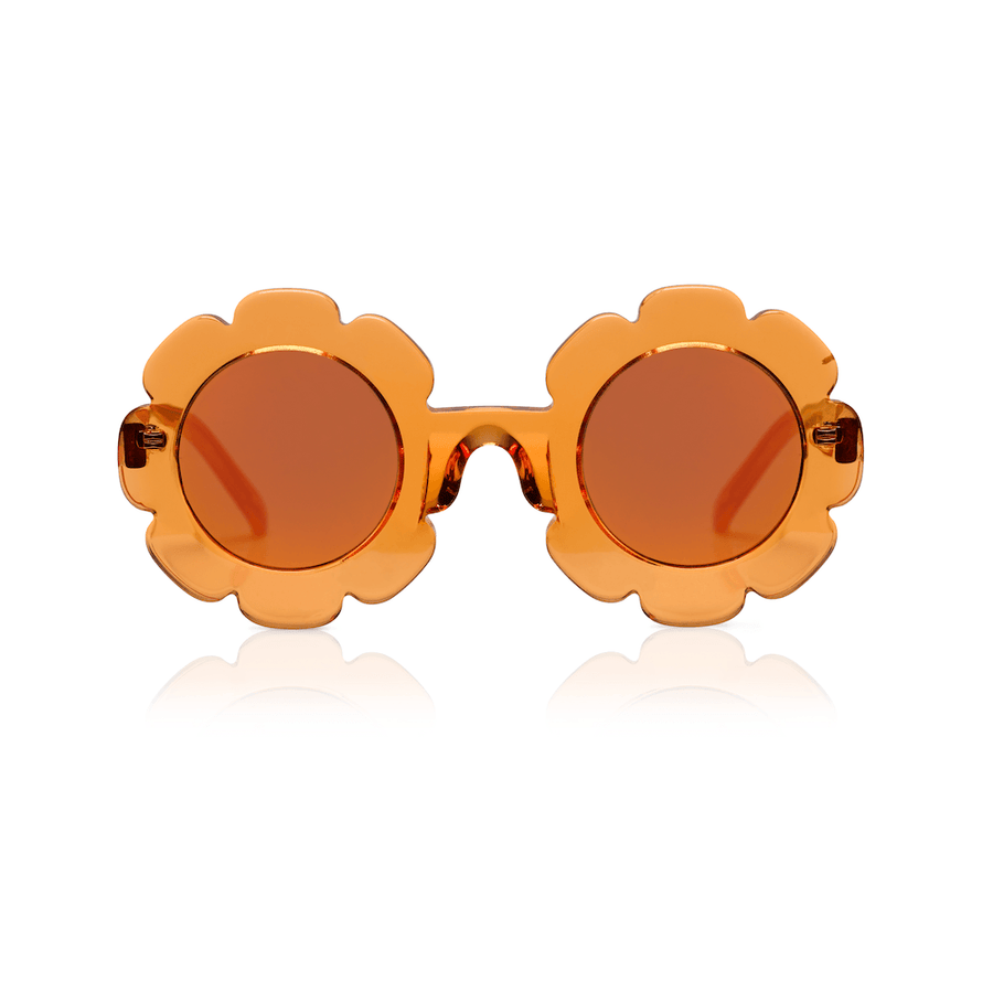 Sons + Daughters Pixie Quality sunglasses in Orange Jelly at Tiny People Shop Australia.
