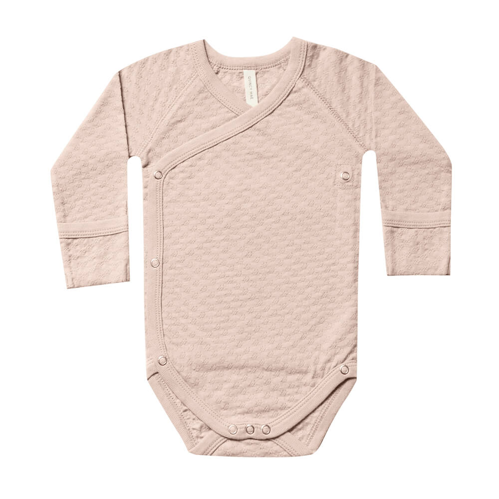 Quincy Mae Pointelle Kimono Onesie Petal | Tiny People
