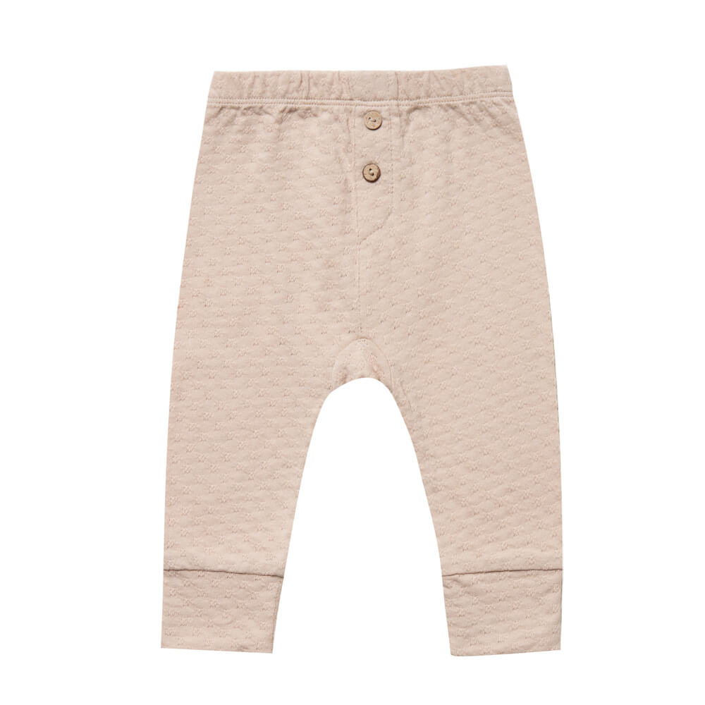 Quincy Mae Pointelle Pyjama Pant Petal | Tiny People