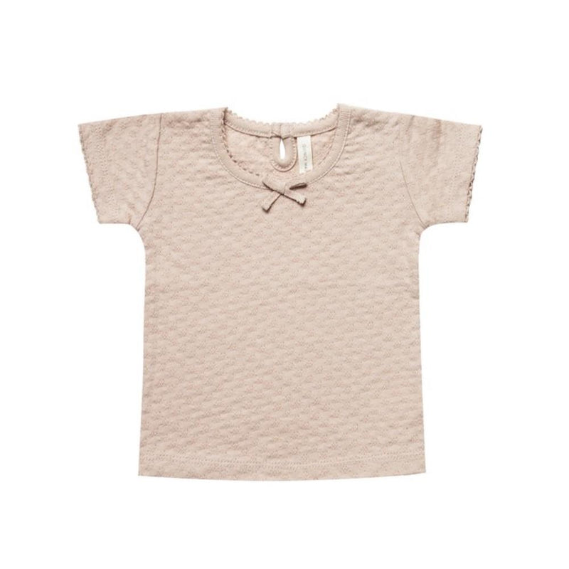 Pointelle Short Sleeve Tee Rose