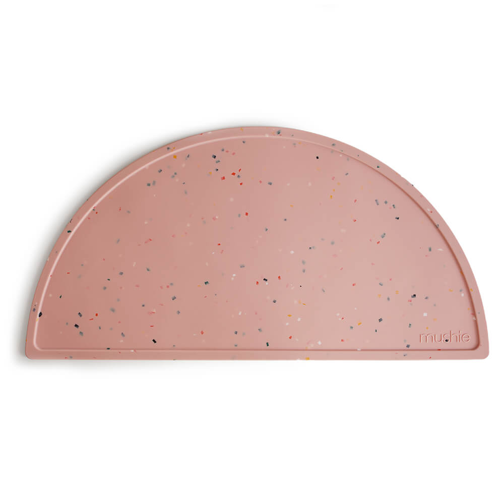Mushie Silicone Place Mat Pink Confetti | Tiny People