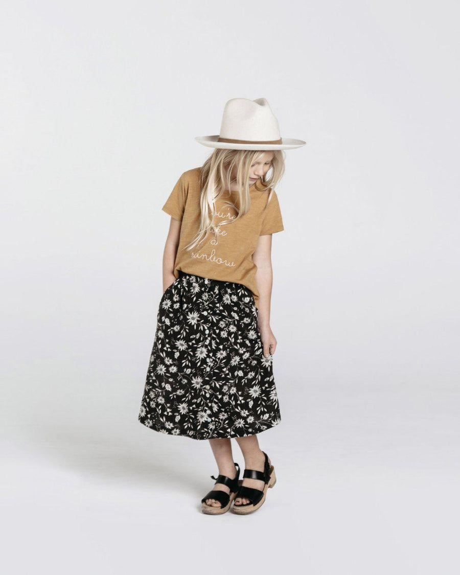 Rylee & Cru Maxi Skirt Midnight Floral at Tiny People shop.