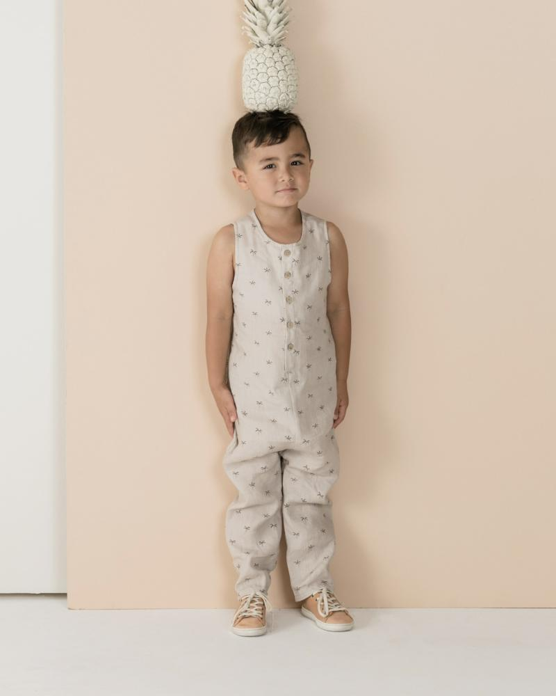 Palms Button Jumpsuit Cloud