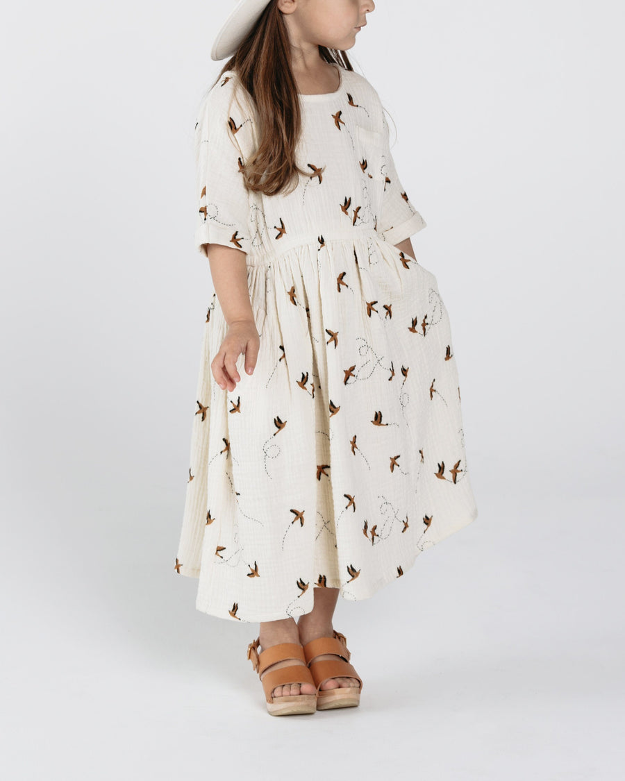 Rylee & Cru Kat Sparrow T-Shirt Dress - Tiny People Cool Kids Clothes Byron Bay