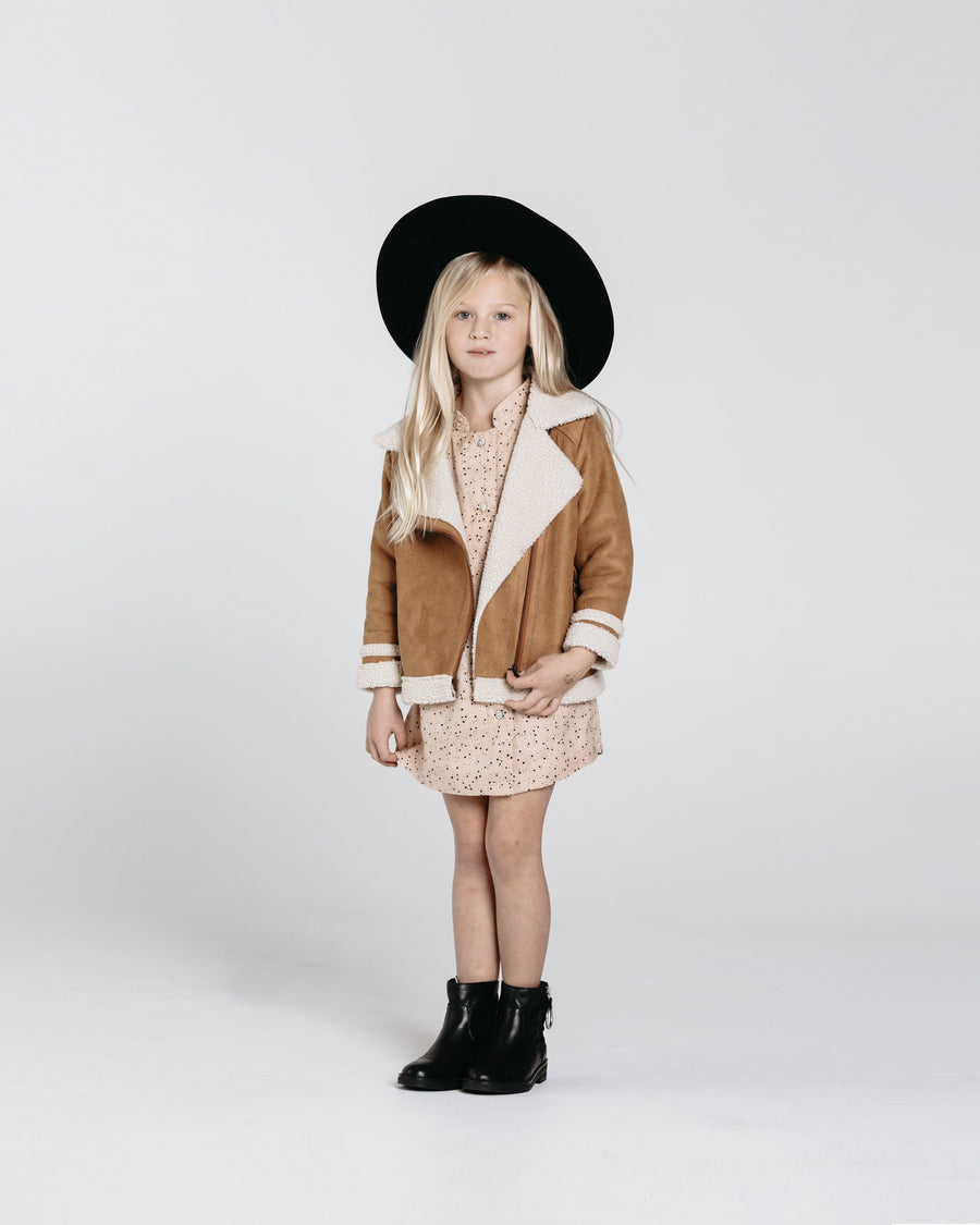 Rylee & Cru Suede Biker Jacket - Tiny People Cool Kids Clothes Byron Bay