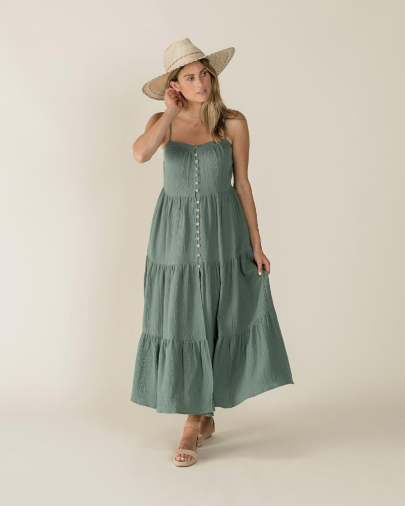 Women's Tiered Maxi Dress Rainforest