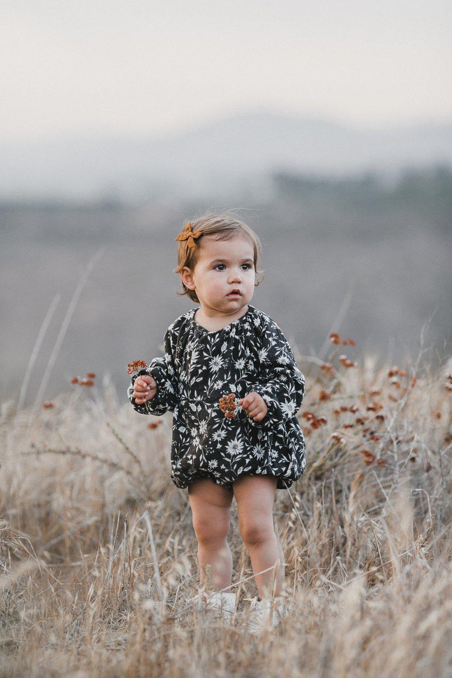 Rylee & Cru Bubble Romper Midnight Floral at Tiny People shop Australia.