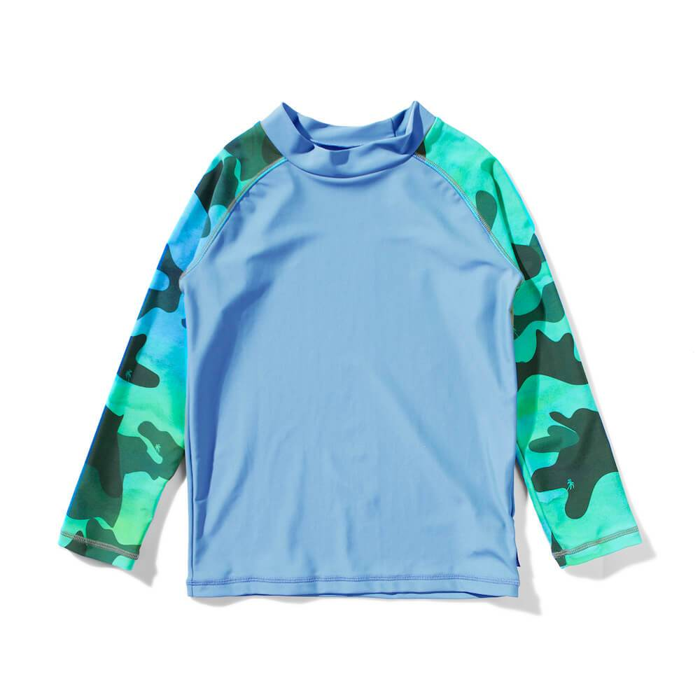 Rambo Long Sleeve Rashie Top Blue