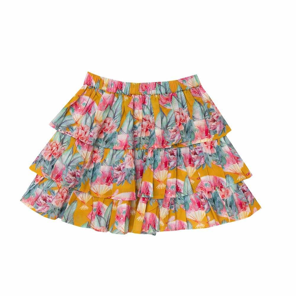 Bella & Lace Rara Skirt Tuscan Sea Girls Skirts - Tiny People Cool Kids Clothes