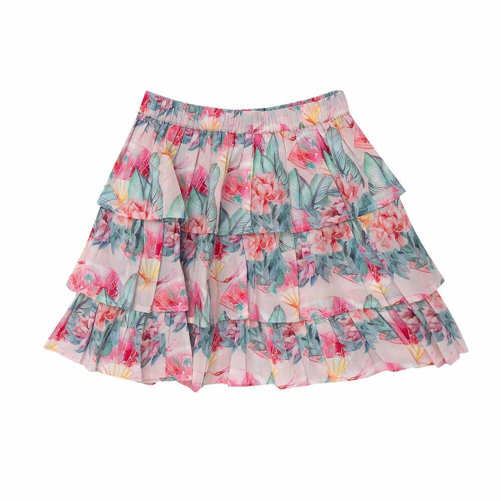 Bella & Lace Rara Skirt Pink Sea Girls Skirts - Tiny People Cool Kids Clothes