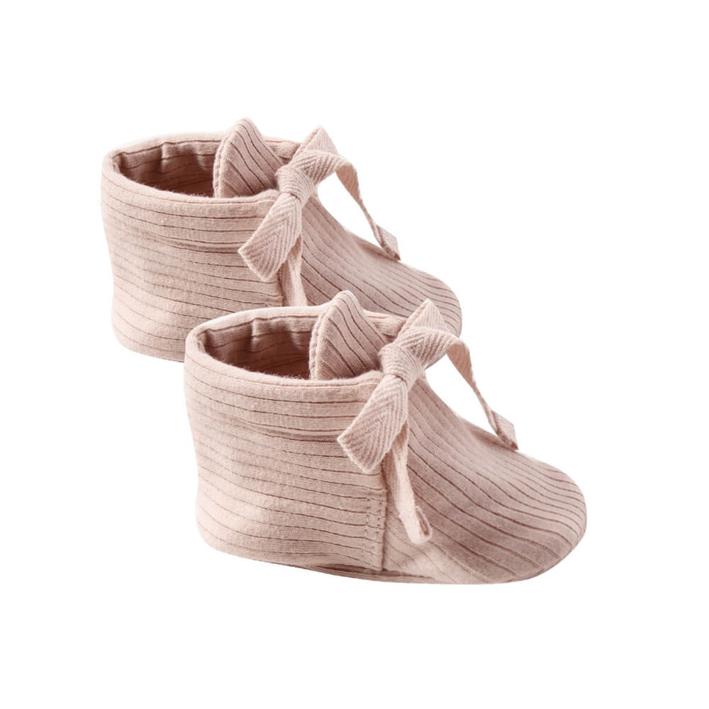 Quincy Mae Baby Booties Petal | Tiny People