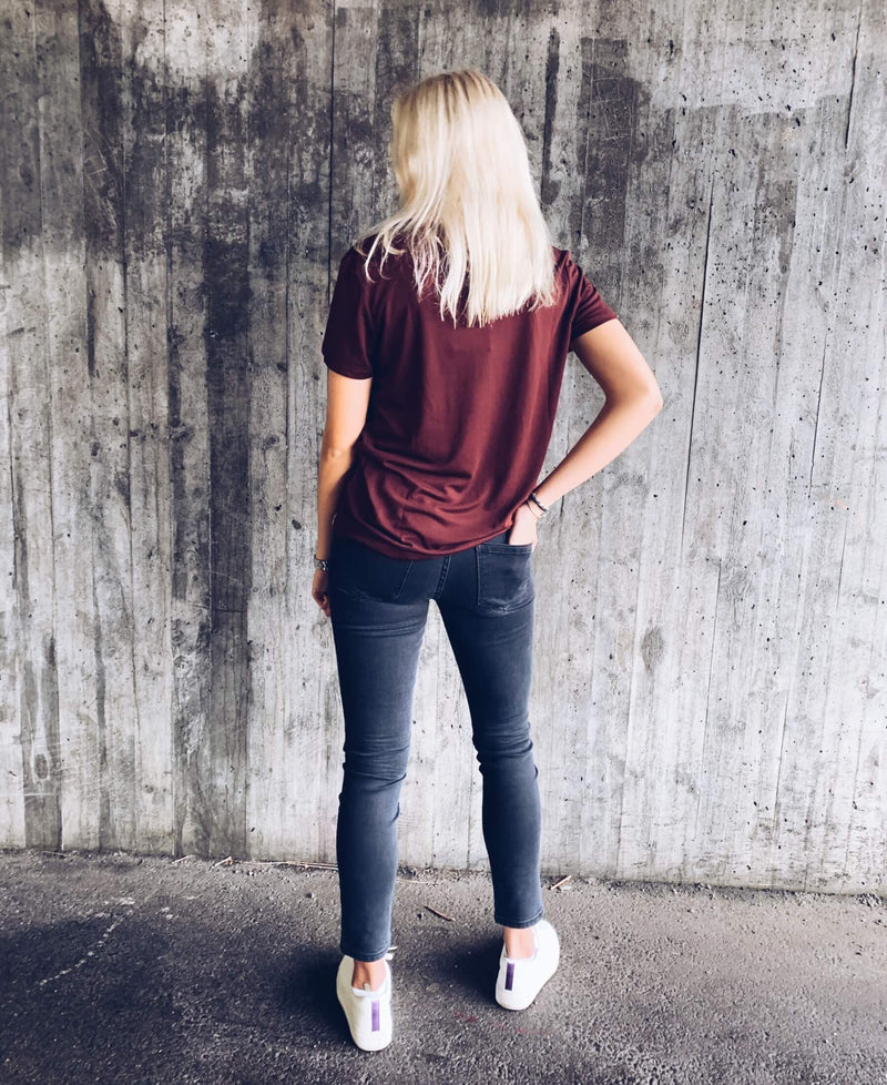 Women's River Tee Bordeaux