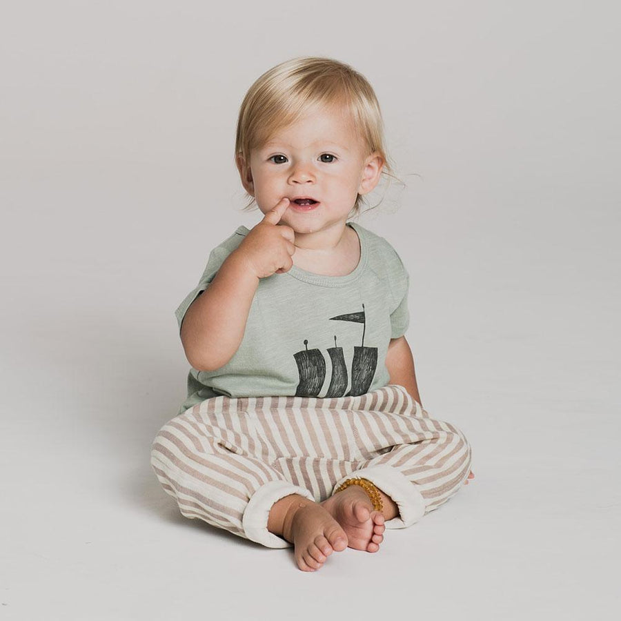 Rylee & Cru Baby Cocoa Stripe Trousers - Tiny People Cool Kids Clothes Byron Bay