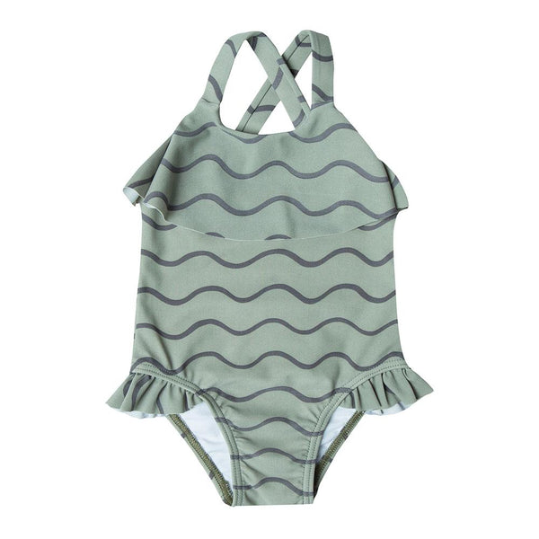Rylee & Cru Rolling Waves Ruffle 1 Piece - Tiny People Cool Kids Clothes Byron Bay