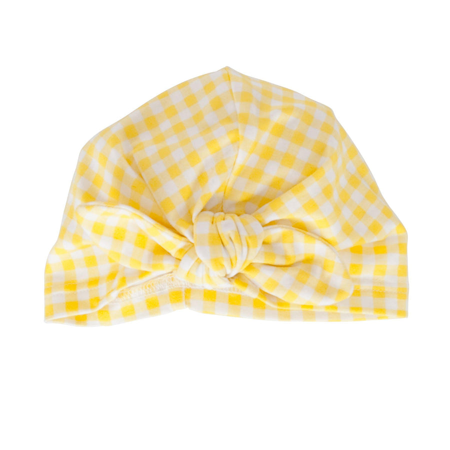 Vincy Turban Yellow Gingham