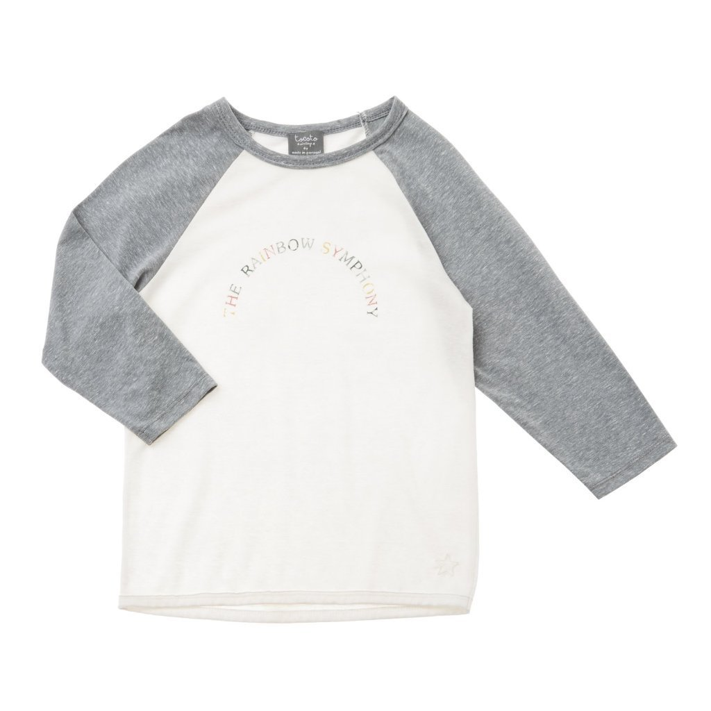 Baseball Symphony Baseball Long Sleeved Tee Grey