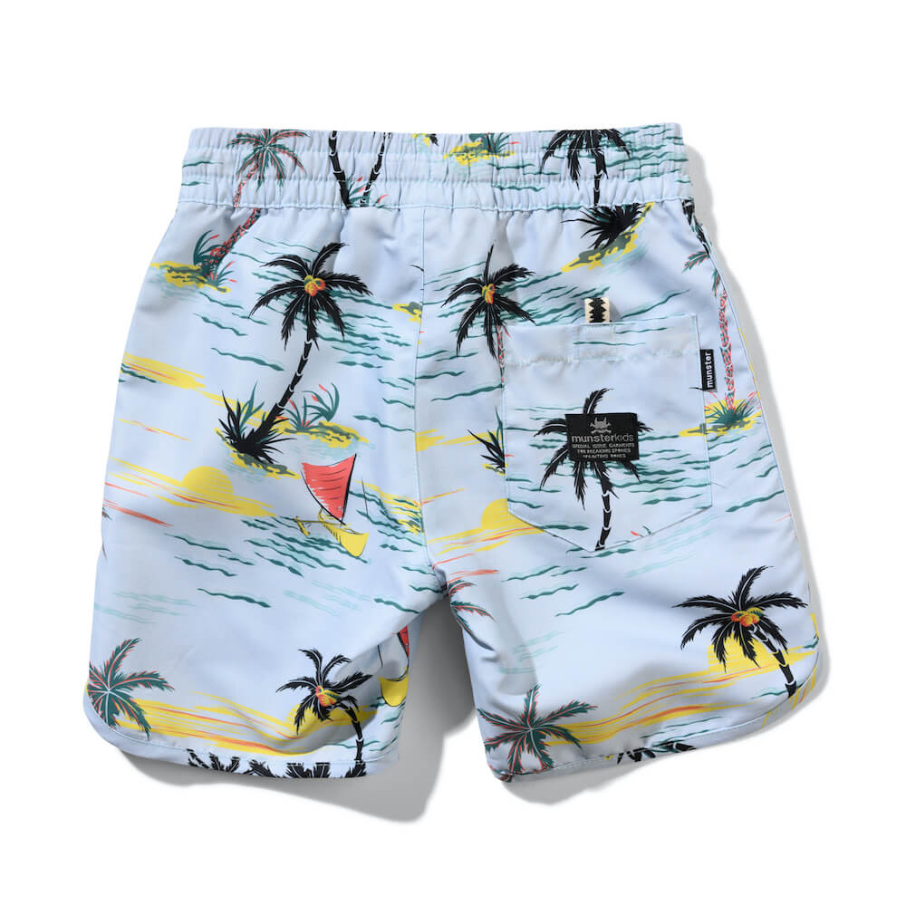 Munster Sailaway Boardshort Pale Blue | Tiny People Shop