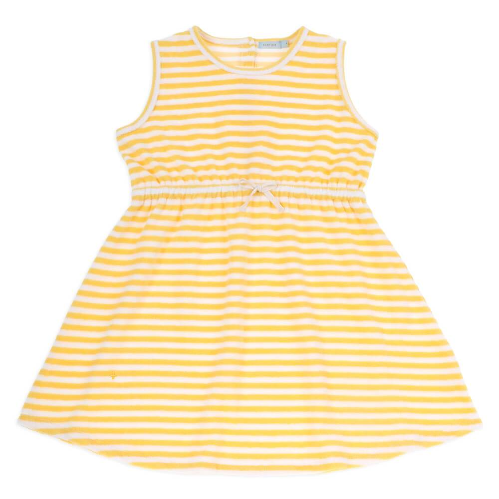 Goldie & Ace Sia Terry Stripe Dress Girls Dresses - Tiny People Cool Kids Clothes