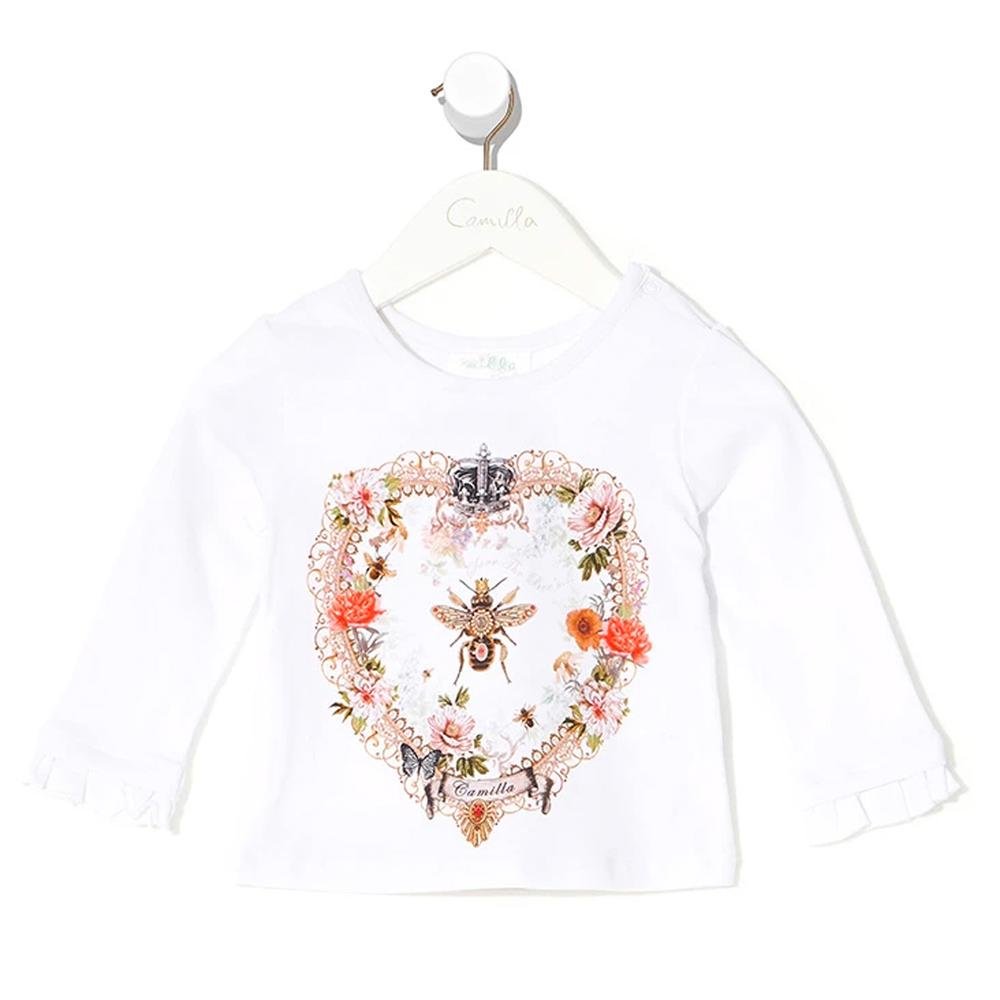 Sew In Love Babies Long Sleeve Top With Frill