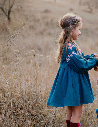 Louise Misha Slovenia Dress Peacock - Tiny People Cool Kids Clothes Byron Bay