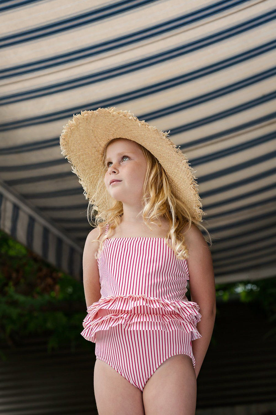 Ziggy Wide Brim Straw hat at Tiny People shop