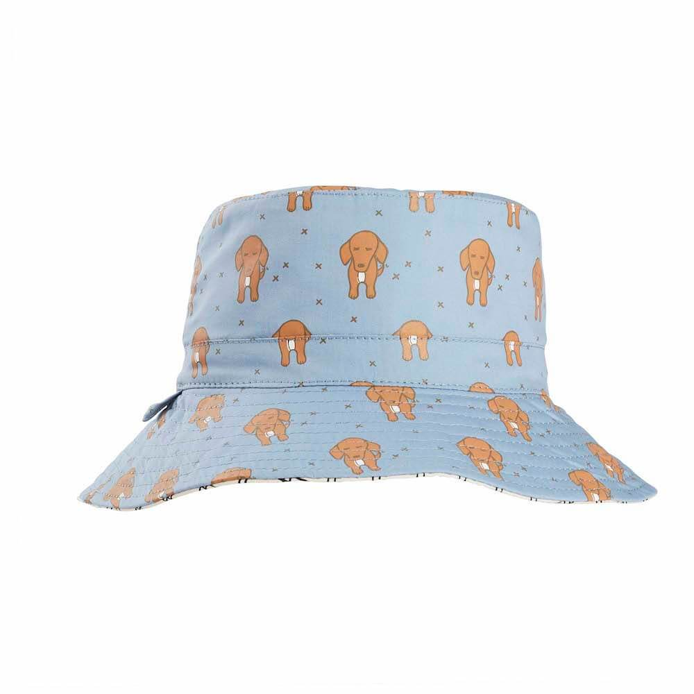 Acorn Kids Doggie Reversible Bucket Hat Hats - Tiny People Cool Kids Clothes