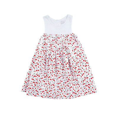 Peggy Poppy Dress Cherry Girls Dresses - Tiny People Cool Kids Clothes