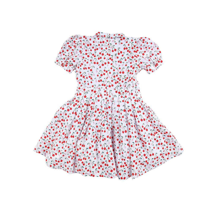 Peggy Mae Dress Cherry Girls Dresses - Tiny People Cool Kids Clothes