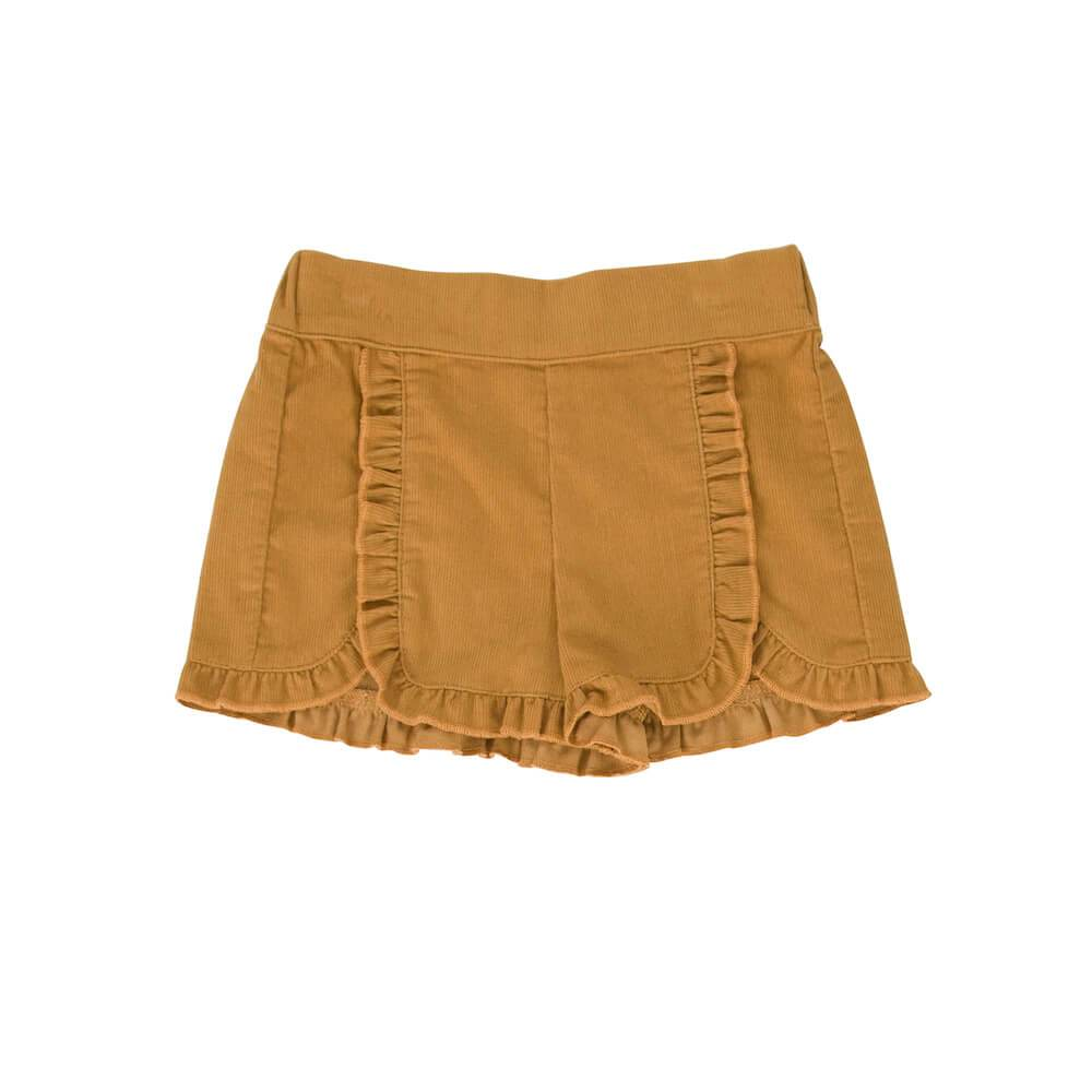 Peggy Amara Short Mustard Cord Girls Shorts - Tiny People Cool Kids Clothes