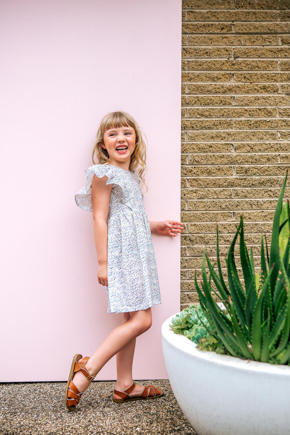 Peggy Marley Dress Mini Blue Floral | Tiny People