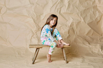 Wilson and Frenchy Flora Long Sleeve Pyjama Set - Tiny People Cool Kids Clothes Byron Bay