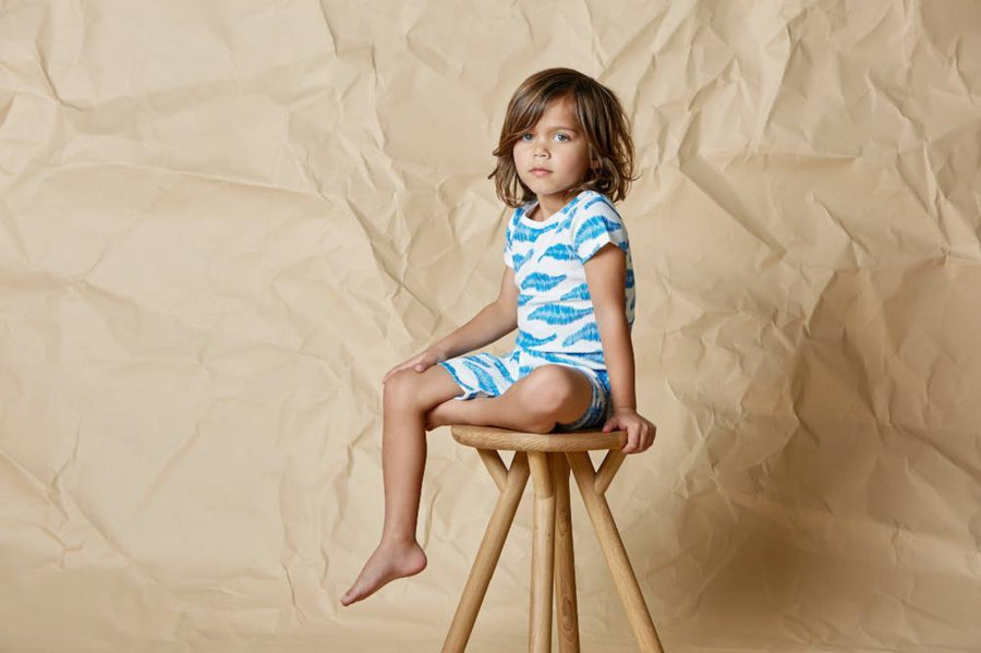 Wilson and Frenchy Jungle Leaf Short Sleeve Pyjama Set - Tiny People Cool Kids Clothes Byron Bay