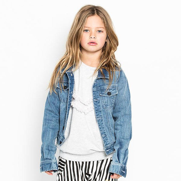 Missie Munster Stephanie Denim Jacket - Tiny People Byron Bay