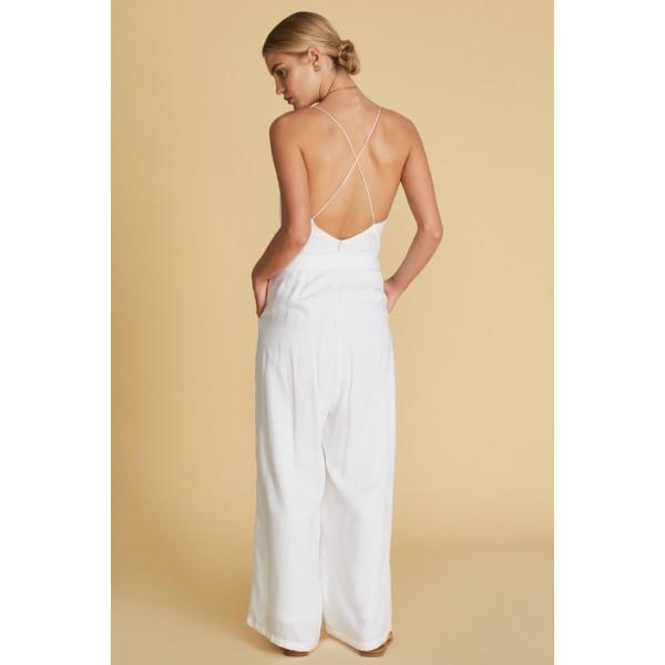 f242027000f Sancia Noemie Jumpsuit White - Tiny People Cool Kids Clothes Byron Bay