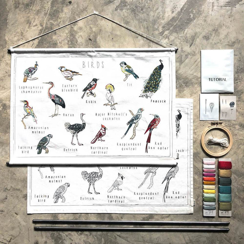 Numero 74 School Poster Kit Birds toys - Tiny People Cool Kids Clothes
