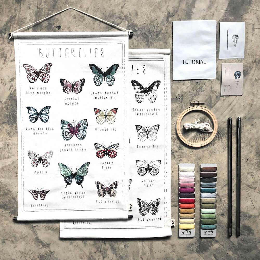 Numero 74 School Poster Kit Butterflies toys - Tiny People Cool Kids Clothes