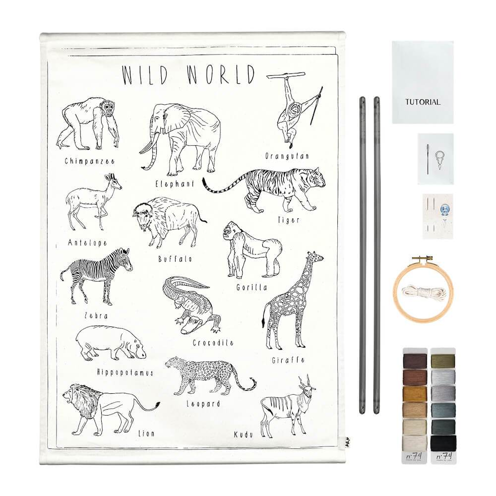 Numero 74 School Poster Kit Wild Animals toys - Tiny People Cool Kids Clothes